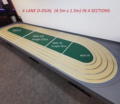 MR TRAX-4DOV-01-210 Modular 4 Lane Oval - 4.5mt x 1.5mt (4 tables)