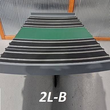 MR TRAX-2L-B Modular 2 Lane Section - 1.2 x 1.2mt Bend Section