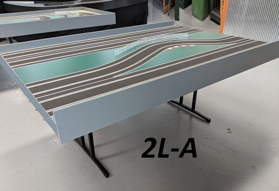 MR TRAX-2L-A Modular 2 Lane Section - 1.2 x 1.75mt Chicane Straight