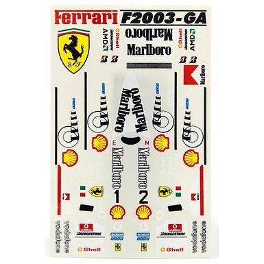 JK-SB10U1 (JK6124ST) 1/32 Ferrari F2003 Decals