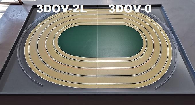 MR TRAX-3DOV-20 Modular 3 Lane Oval - 2.4mt x 1.5mt