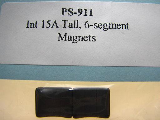 PRO SLOT-911 Int. 15 Tall 6 Segment Magnets