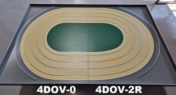 MrTrax 4DOV-02 Modular 4 Lane Oval - 2.4mt x 1.5mt