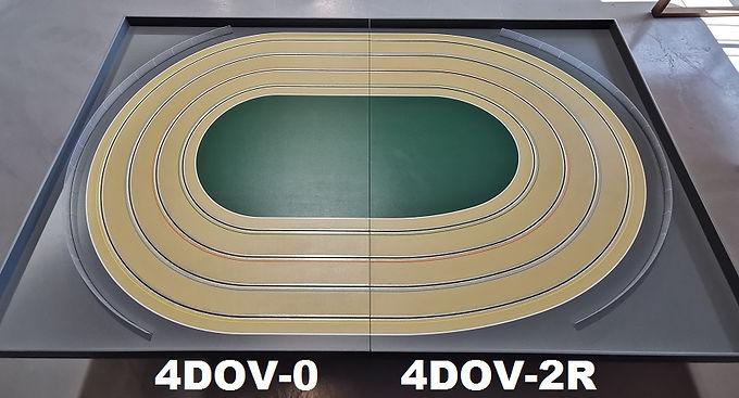 MR TRAX-4DOV-02 Modular 4 Lane Oval - 2.4mt x 1.5mt