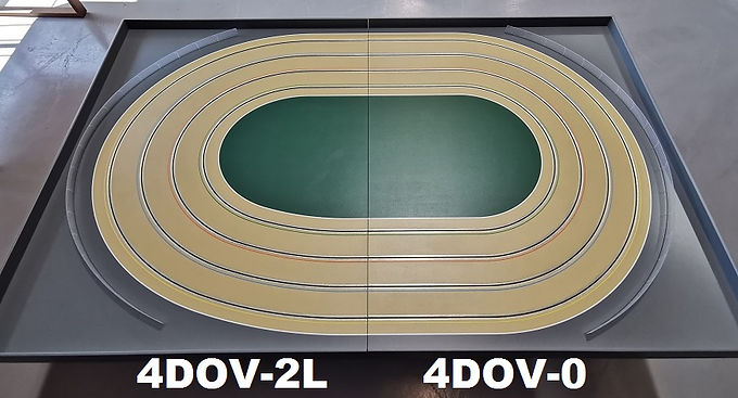 MR TRAX-4DOV-20 Modular 4 Lane Oval - 2.4mt x 1.5mt