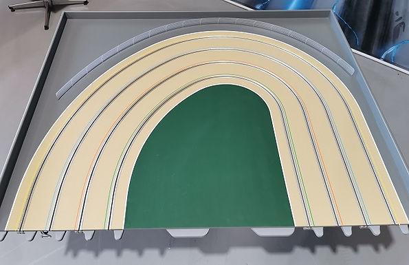 MR TRAX-3DOV-1R Modular 3 Lane R/H end - 1.2 x 1.5mt Dual radius end