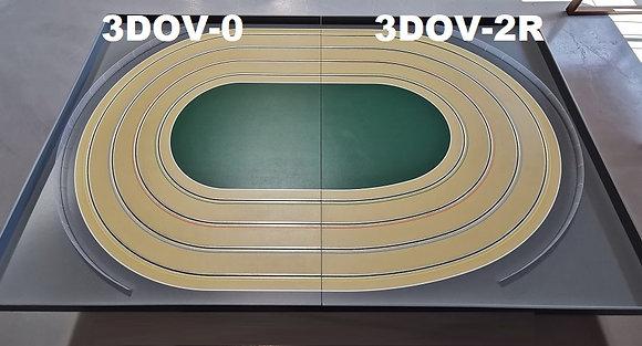 MR TRAX-3DOV-02 Modular 3 Lane Oval - 2.4mt x 1.5mt