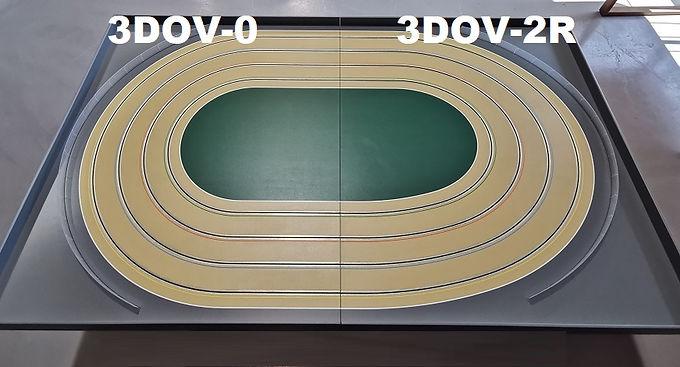 MR TRAX-3DOV-02 Modular 3 Lane Oval Set - 2.4mt x 1.5mt