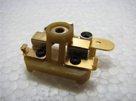 KOFORD-506 Gold Plated Box Stock Endbell W/Horiz. Brush Hoods