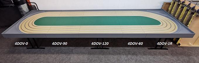 MR TRAX-4DOV-01-270 Modular 4 Lane Oval - 5.1mt x 1.5mt (5 tables)