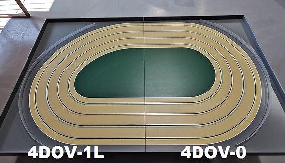 MrTrax 4DOV-10 Modular 4 Lane Oval - 2.4mt x 1.5mt