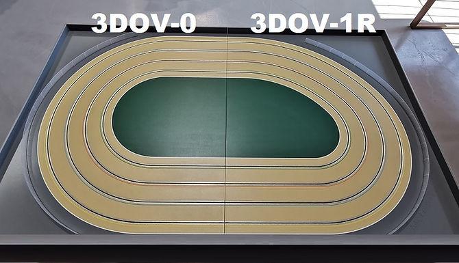 MR TRAX-3DOV-01 Modular 3 Lane Oval Set - 2.4mt x 1.5mt
