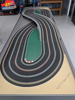MR TRAX-4LSET(LB) Modular Track system - 4 Lanes (3 tables)