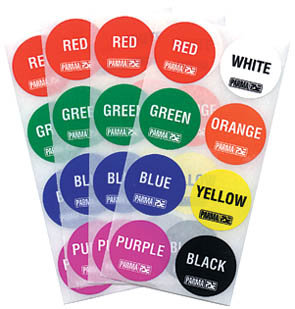 PARMA 751 Big Dot Lane Stickers, All 8 Colors (1 Sheet Of 8 Stickers)