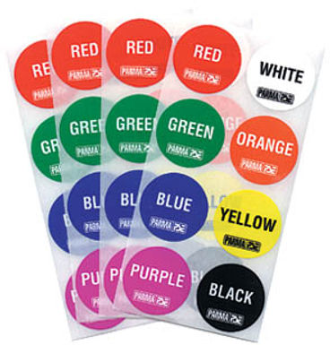 PARMA-751 Big Dot Lane Stickers, All 8 Colors (1 Sheet Of 8 Stickers)