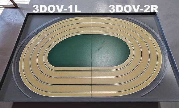 MrTrax 3DOV-12 Modular 4 Lane Oval Set - 2.4mt x 1.5mt