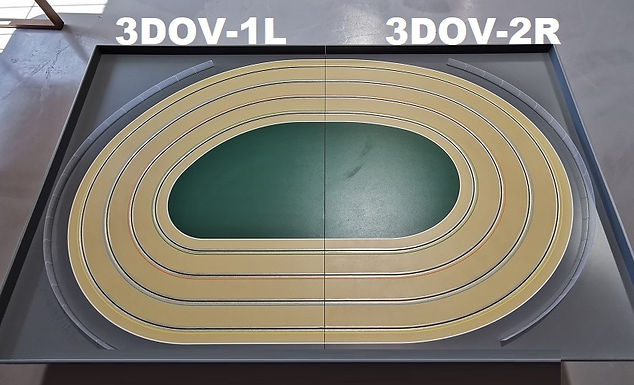 MR TRAX-3DOV-12 Modular 3 Lane Oval Set - 2.4mt x 1.5mt