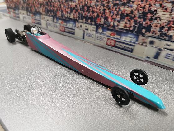 MR SLOTCAR Super Mod - Pink/Teal Dragster