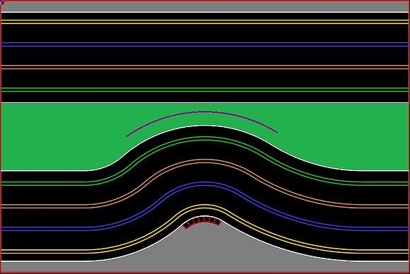 MrTrax 4L-A Modular 4 Lane Section - 1.2 x 1.8mt Chicane Straight