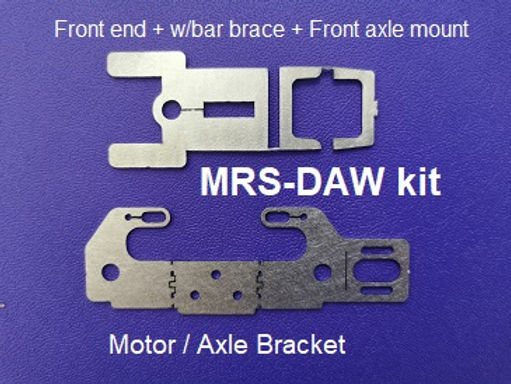 MR SLOTCAR-MRS-DAW Drag Angle Wind Chassis Kit