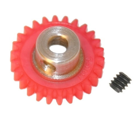 "PRO SLOT 673-26 Polymer 1/8"" Axle Gear 48p PINK 26"