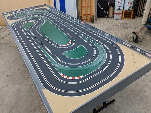 MrTrax 2LSET3350 2 Lane Modular Track system (2 tables)