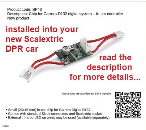 SLOT.IT-SP43 Digital Carrera Chip for Scalextric DPR Cars