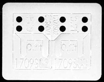 PLAFIT-1709S05 Plastic Spacer Set, 2 x 2 types 0.5mm