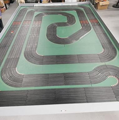 MrTrax HO 6-Lane Custom AFX Track with 10 cars