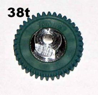 "PRO SLOT-691-38 Polymer 3/32"" Axle Gear 64p BLUE 38"