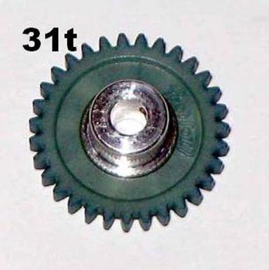 "PRO SLOT-673-31 Polymer 1/8"" Axle Gear 48p BLUE 31"