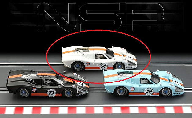 NSR-0174SW Ford MKIV Gulf Ltd Ed Gloss White
