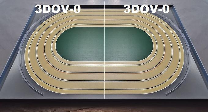 MR TRAX-3DOV-00 Modular 3 Lane Oval Set - 2.4mt x 1.5mt