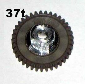 "PRO SLOT 691-37 Polymer 3/32"" Axle Gear 64p SILVER 37"