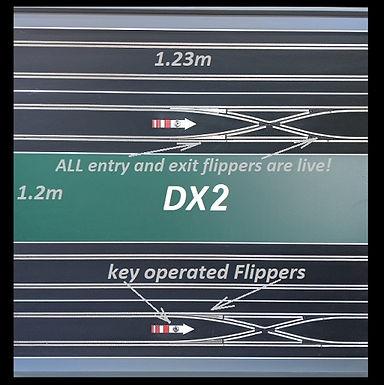 MR TRAX-2L-DX2 Modular 2 Lane Section - 1.2 x 1.2mt Crossover Half Straight