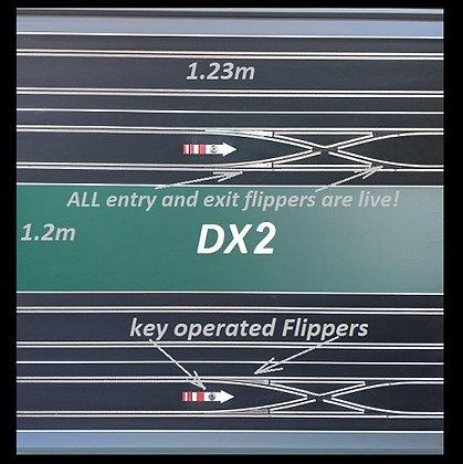 MrTrax 2L-DX2 Modular 2 Lane Section - 1.2 x 1.2mt Crossover Half Straight