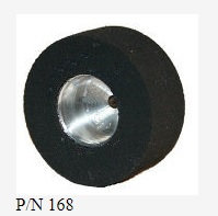 """PRO TRACK-N168 3/32 x 1.01 x .435W Natural Rubber Drag Tyres 1/2"""" Std Hubs."""