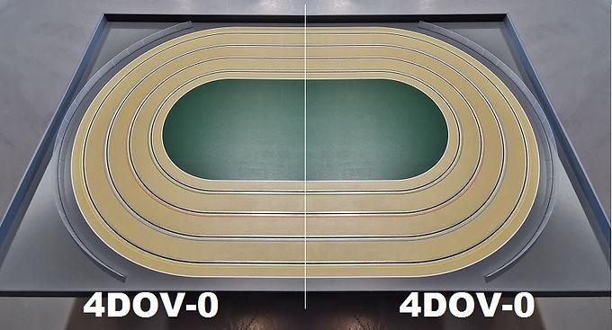 MR TRAX-4DOV-00 Modular 4 Lane Oval - 2.4mt x 1.5mt