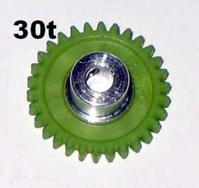 "PRO SLOT-673-30 Polymer 1/8"" Axle Gear 48p GREEN 30"