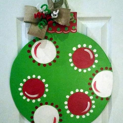 Christmas Ornament Door Hanger  ruthiesrenditions