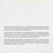 Jean Baier, Album: Einleitung, 1971