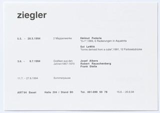 Grafiken aus den Jahren 1967-1970: Josef Albers, Robert Rauschenberg, Frank Stella