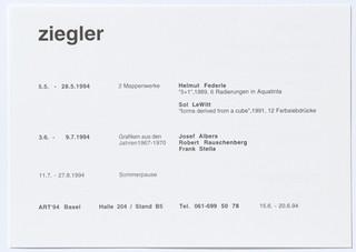 2 Mappenwerke: Helmut Federle, Sol LeWitt