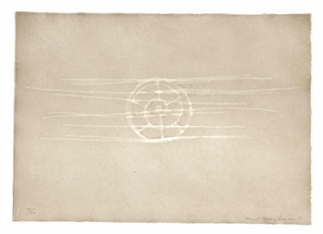 Meret Oppenheim, Wolken (II): Blatt Nr. 3, 1971