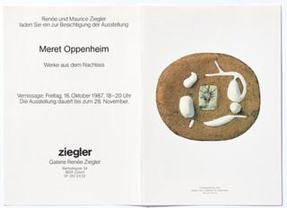 Meret Oppenheim: Werke aus dem Nachlass