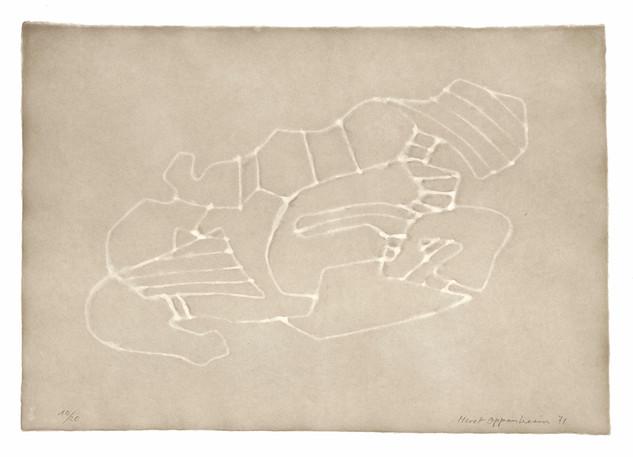 Meret Oppenheim, Wolken (II): Blatt Nr. 9, 1971