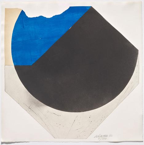 Rolf Lehmann - Suite de 10 aquatintes-collages, Blatt 6, 1972