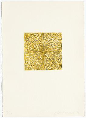 Pierre Haubensak, Radierung mit gelb,1978