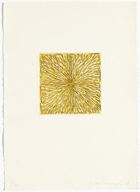 Pierre Haubensak, Radierung mit gelb, 1978