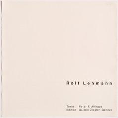 Rolf Lehmann - Suite de 10 aquatintes-collages, Titelblatt, 1972